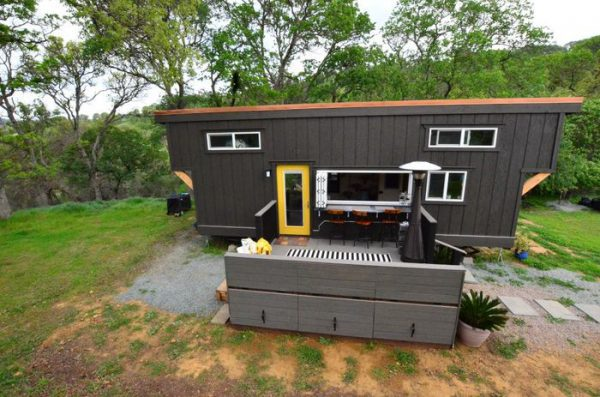 Tiny House Deck - Small House Decor