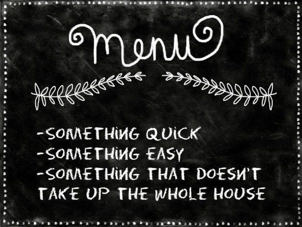 Meal Planning - Chalkboard