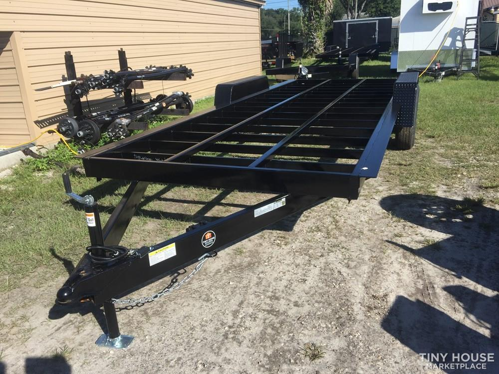 "16' x 98"" Official Tiny Home Builders Trailer with Drop Axles"