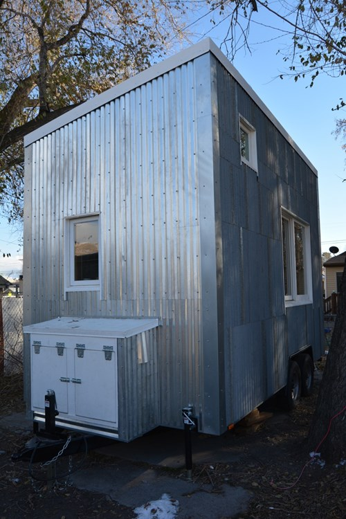 Tiny house for sale solar powered super insulated for Super insulated water heater