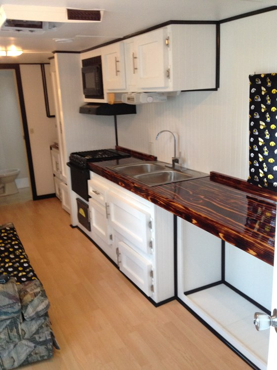 Tiny house for sale remodeled 2006 camper inspired by the for Stationary tiny houses for sale