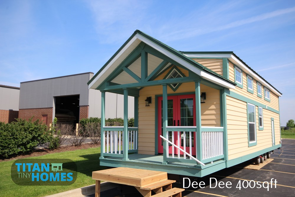 Tiny house for sale titan tiny homes dee dee tiny house for Cost to build a house in indiana