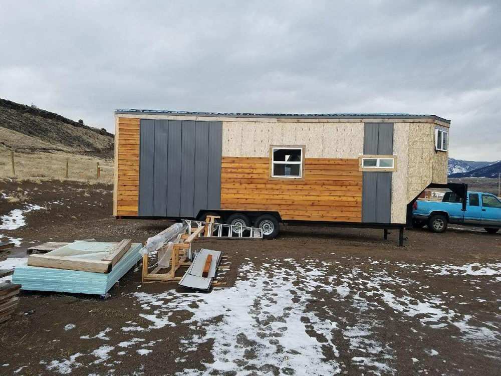 Nit finished tiny home on trailer 30 ft long