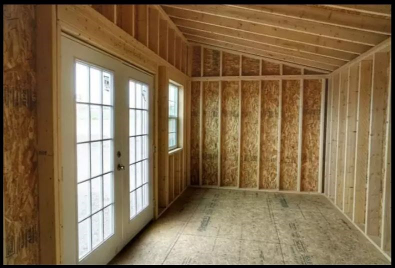 10' x 20' Tiny house shell, Studio, Casita or Office 8 FT , 2 x 6 walls with Raised Ceiling 2