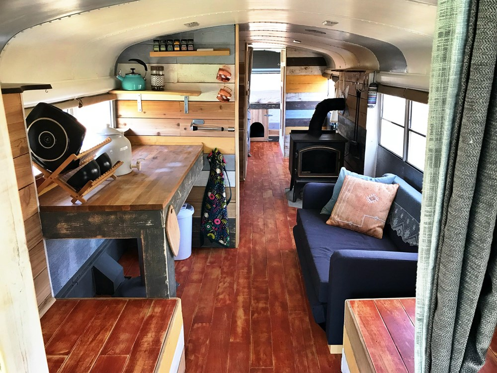 School Bus Converted to Amazing Tiny Home