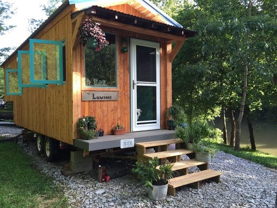 240 sq ft Gooseneck Tiny Home on Wheels in NC