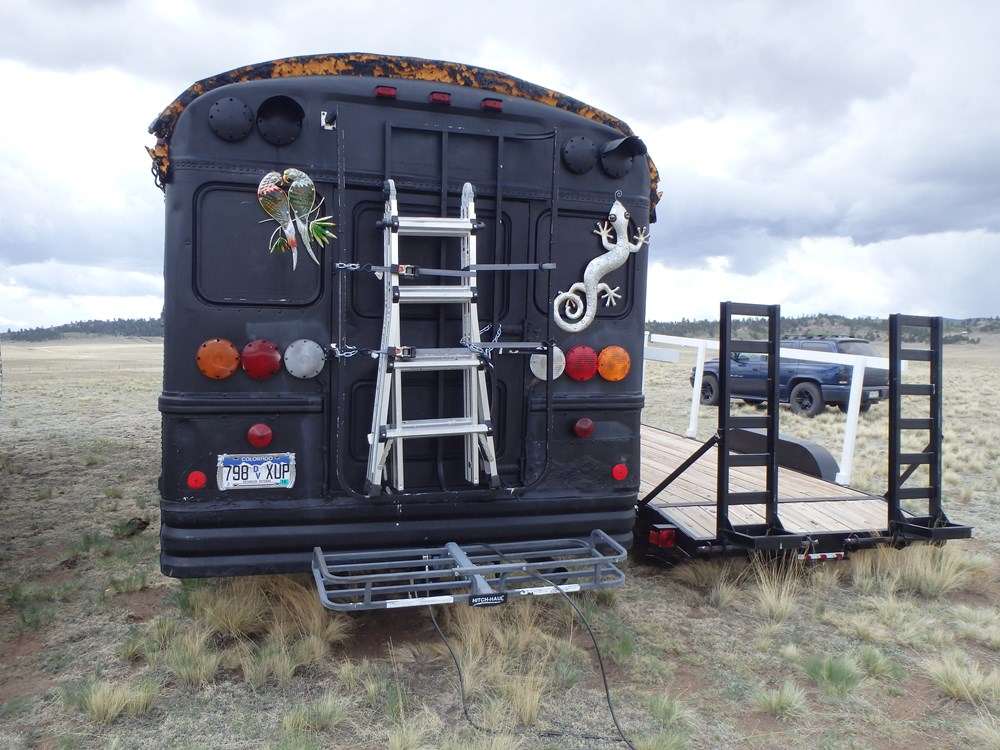 Bus RV Tiny Home plus Car Trailer 8