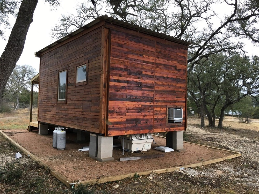 Tiny House 12x16 w reclaimed Wood & modern SIP Constructed w Clever Innovations 2