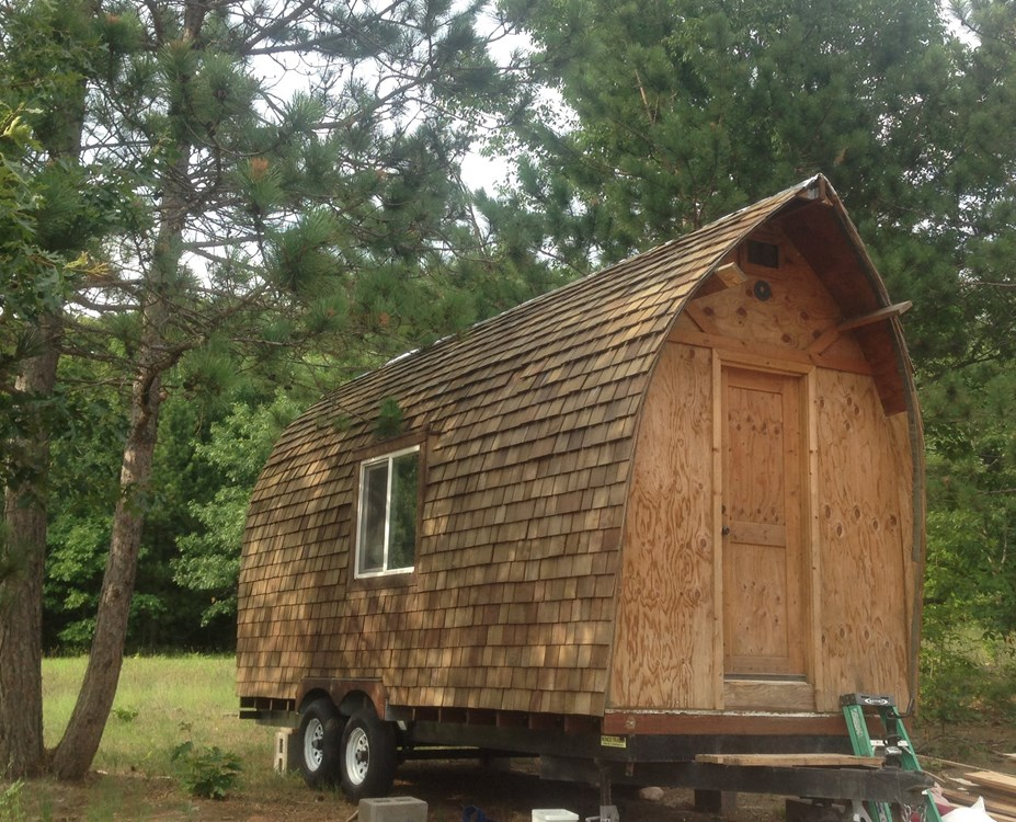 Beautiful Custom Built Cedar Shingled Tiny House on Wheels 8x20