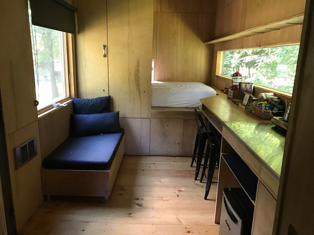 Custom-built Tiny house in NH with minimalist interior design