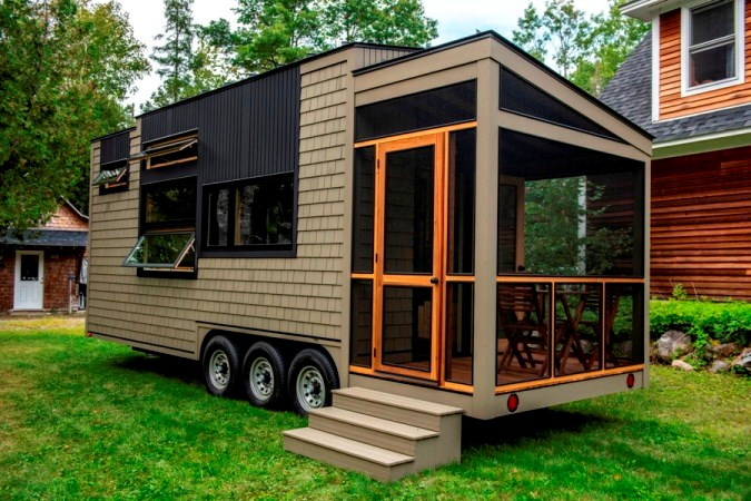 tiny house for sale 25 foot tiny house on wheels with. Black Bedroom Furniture Sets. Home Design Ideas