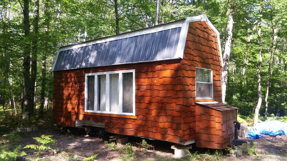 Rustic Hunting Cabin Tiny House on Wheels