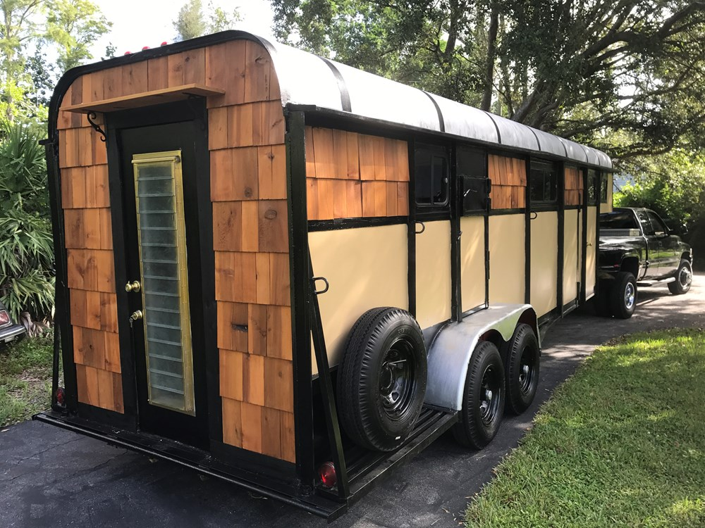 Tiny House For Sale Repurposed Horse Trailer