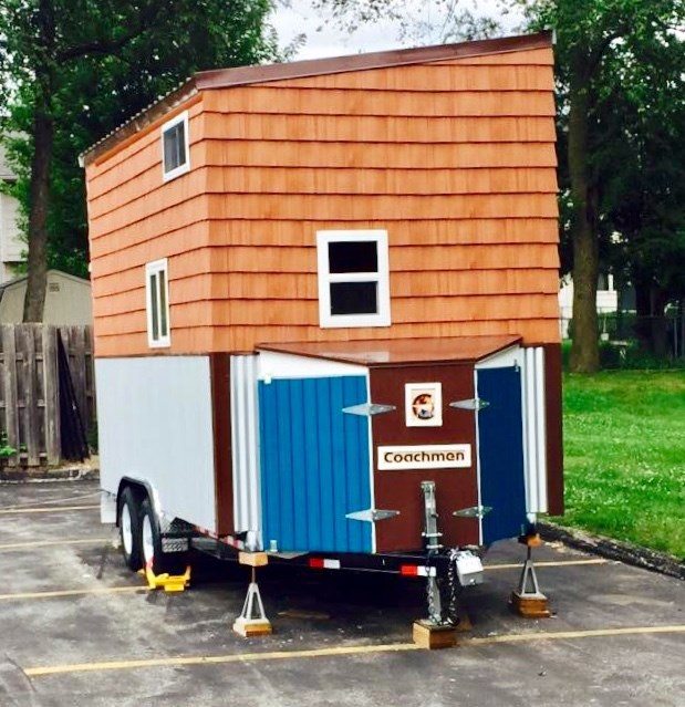 Finished Cedar/Birch Tiny house on HD 16ft trailer