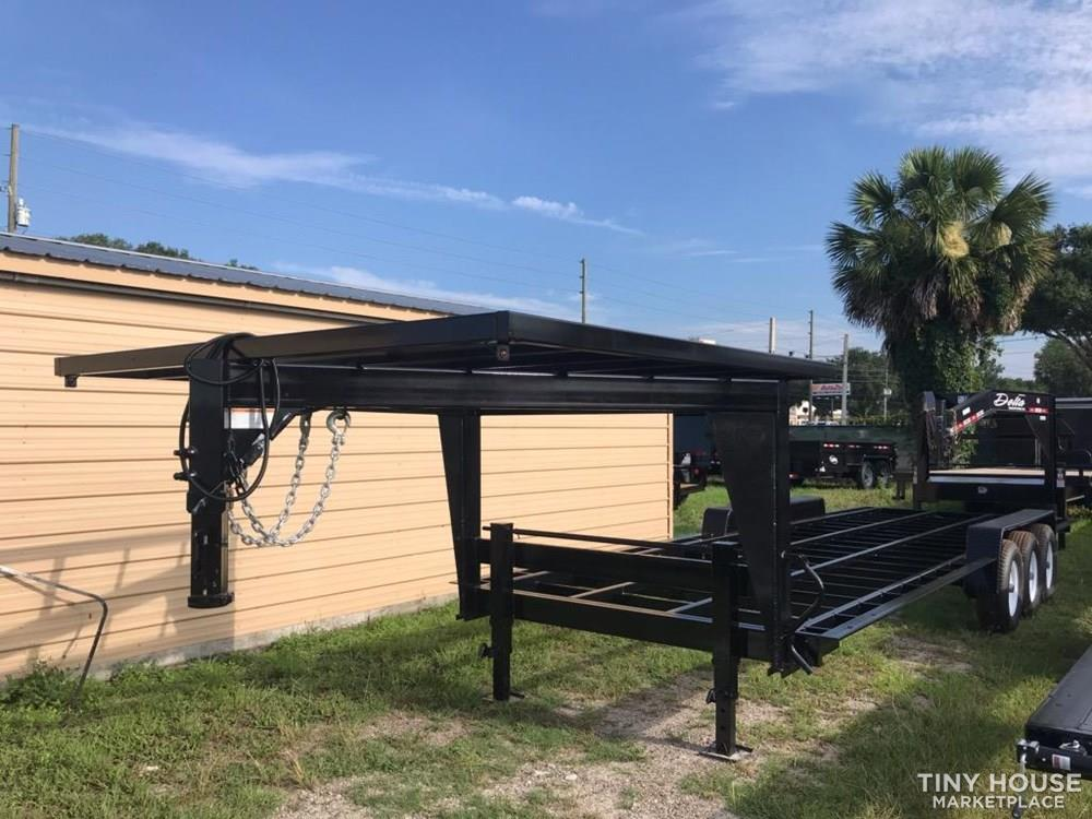 "26'x 100"" Gooseneck Official Tiny Home Builders Trailer"
