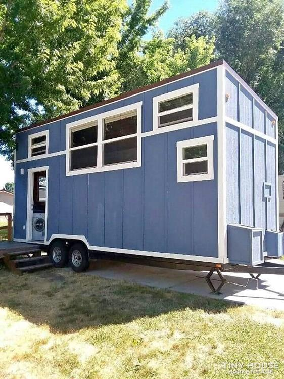Beautiful Blue RVIA Certified Tiny House