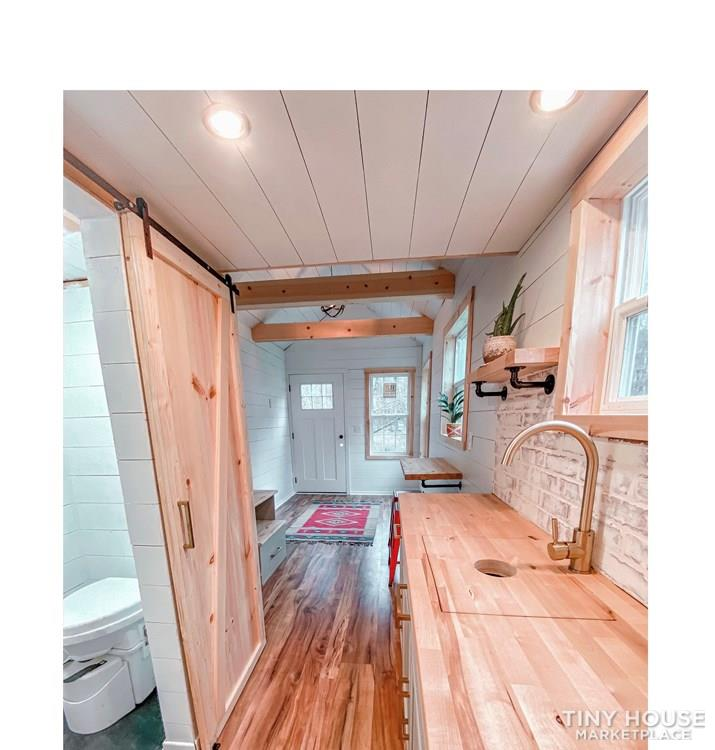 Tiny Modern Farmhouse on Wheels  10