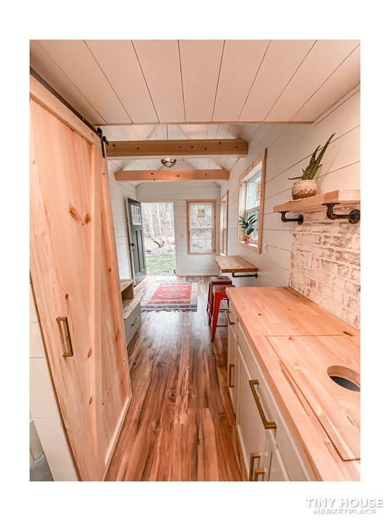 Tiny Modern Farmhouse on Wheels  11