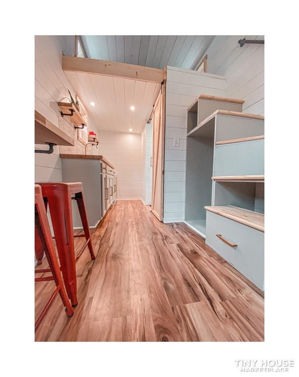 Tiny Modern Farmhouse on Wheels  12