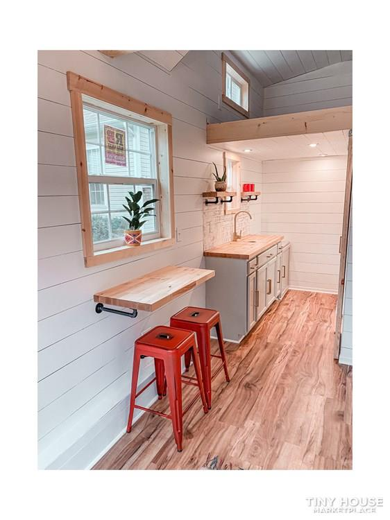 Tiny Modern Farmhouse on Wheels  13