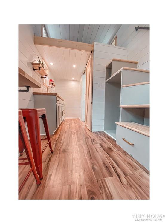 Tiny Modern Farmhouse on Wheels  24
