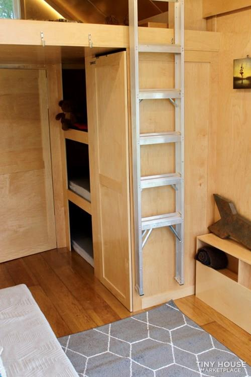 This Lightweight Custom Tiny Home is Beautiful, Spacious and Easy to Pull.  20