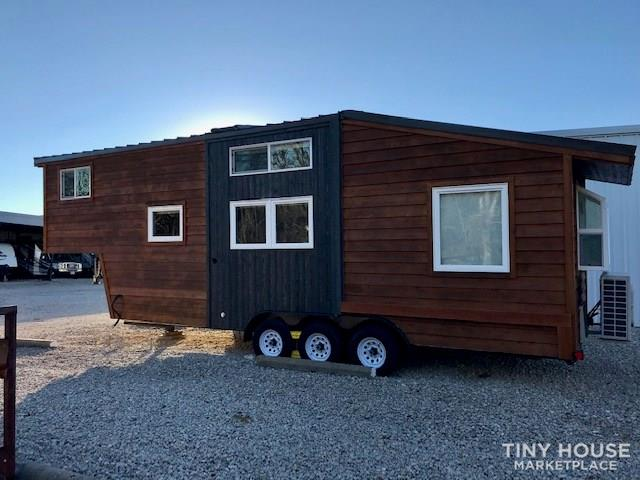 Modern Cabin Styled Tiny House with Goose-neck Trailer  2