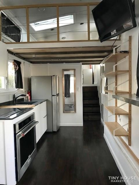 Modern Cabin Styled Tiny House with Goose-neck Trailer  5