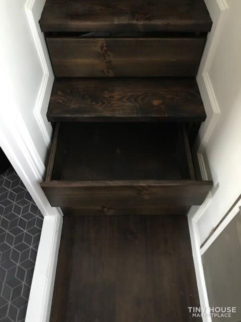 Modern Cabin Styled Tiny House with Goose-neck Trailer  10