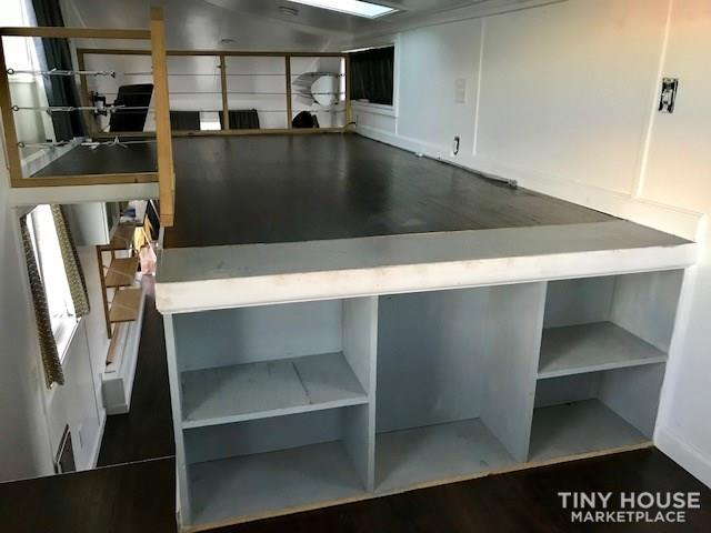 Modern Cabin Styled Tiny House with Goose-neck Trailer  11