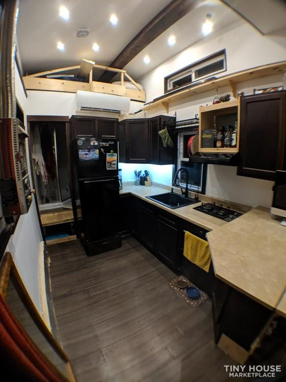 Off-Grid 32' Tiny House On Wheels For Sale 10