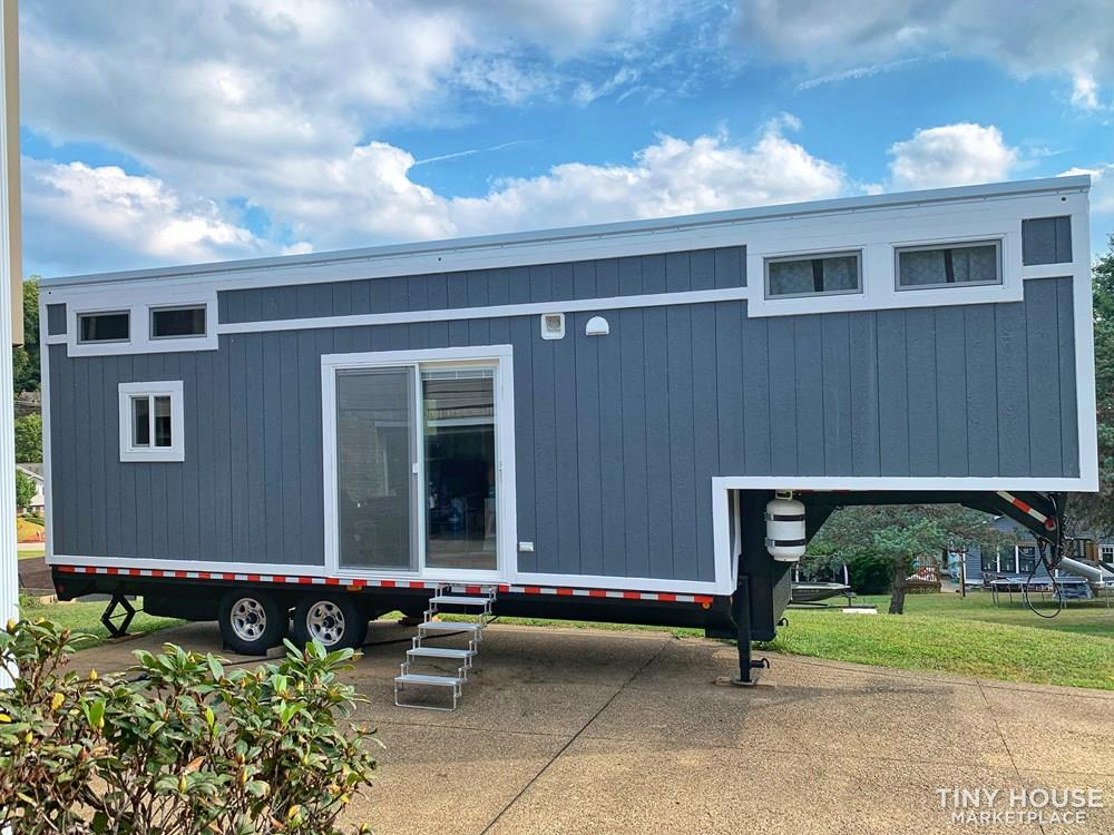 The Traveler - Certified 33' Gooseneck Tiny House with Stand-up Master Bedroom