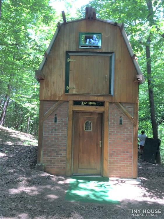 Two-story TINY HOUSE (HUNTING HOUSE)_German style_Post & Beam 2