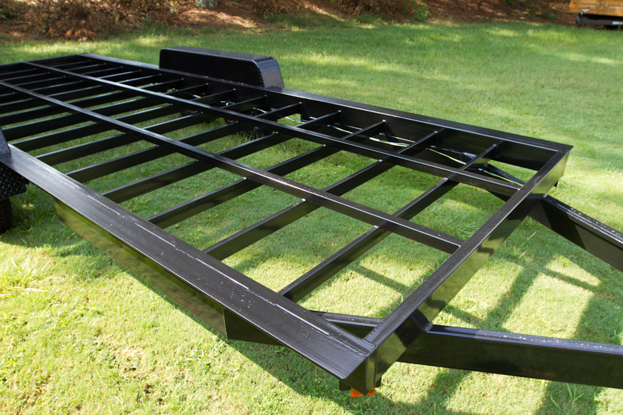 tiny house trailer square tube frame - Tiny House Framing 2